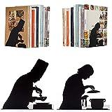 Artori Design| by The Book | Soporte para Libros Decorativo de Metal con diseño de Cocinero | Soporte para Libros | Soporte para Libros de Cocina | Regalo para Chefs