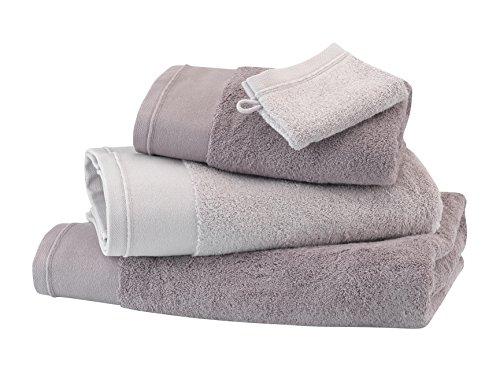 BLANC CERISE Serviette de Toilette - Coton peigné 600 g/m² - Unie Taupe 050x100 cm
