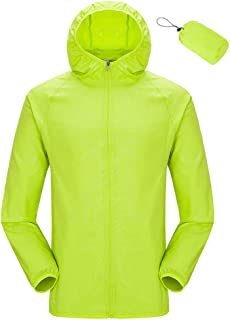 7f151a4d6c7 AbelWay Women s Packable Lightweight Hooded Raincoat Windbreaker Waterproof  UV Protect Jacket
