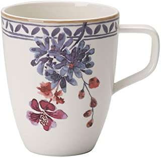 Villeroy & Boch Artesano Provençal Lavender Coffee Mug, Premium Porcelain, White/Multicoloured, 380 ml, Lavendel, 1 piece