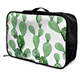Qurbet Reisetaschen,Reisetasche, Travel Lightweight Waterproof Foldable Storage Carry Luggage Duffle Tote Bag - Cactus Pattern