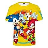 ZZBM Sonic Enfant Garçon Fille T-Shirt Top à Manches Courtes Fantaisie Imprimé 3D Eté (8,110)