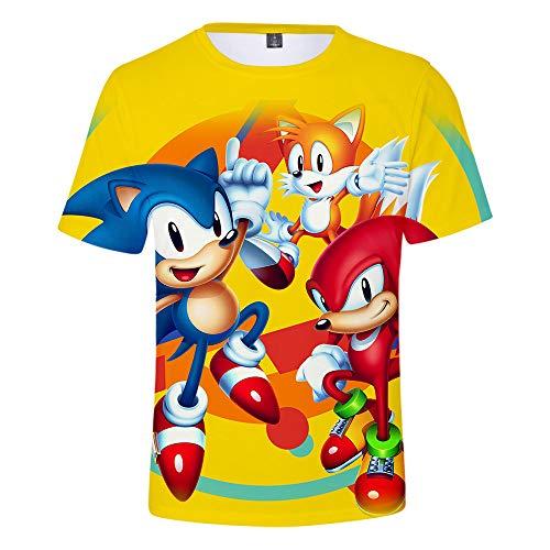 QPY T-Shirt für Herren / Kinder / Erwachsene, mit Digitaldruck, 3D-Druck, kurzärmelig M h