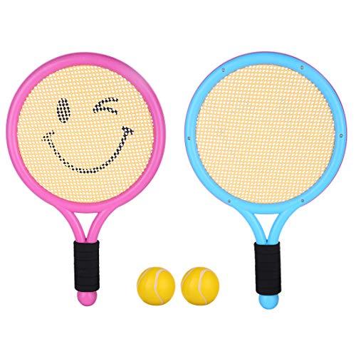 Macium Tennisschläger Kinder, Tennis Badminton Racket Set Federball Set Spielzeug Draussen Spielzeug für Kinder ab 3 4 5 6 Jahren