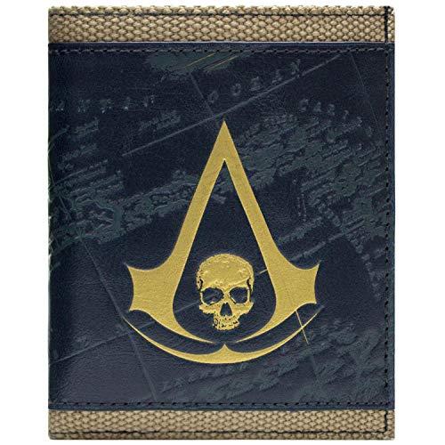 Cartera de Ubisoft Assassins Creed Bandera Negro Bronce