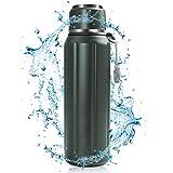 VAZILLIO Botella Agua Acero Inoxidable, 600ml Botella Termica Deporte, Termo Cantimplora Botellas de Frío/Caliente Sin BPA, Resistencia al Rayado, para Niños y Adultos, Hogar y Exterior (Verde)