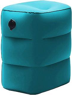 وسادة مريحة للقدم قابلة للنفخ قابلة للحمل بثلاث طبقات ارتفاع القدم للطائرات، والسيدات، والمنزل، والقطارات، والمكتب للاستلق...