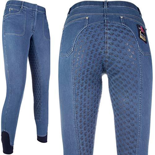 HKM Pantalon d'équitation Unisexe - Santa Rose - en Silicone - 6100 Taille Unique Bleu Jeans (6100)