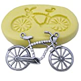 FLY DIY Cake Mold 3D Bicycle Shaped Silicone Fondant Mold,Pink