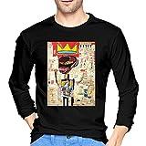 Camisetas de Manga Corta Jean Michel Basquiat Men's O Neck Long Sleeve T Shirt Tops Cotton tee