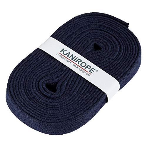 Kanirope® HOODIECORD 16mm 5m Dunkelblau Flachkordel Band Kordel Flachband Flachschnur Hoodieband