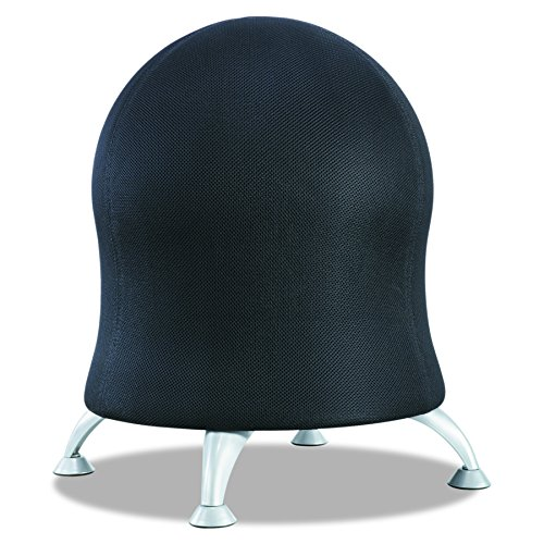 Safco Products Zenergy Ball Chair , Black, Low Profile, Active Seating, Steel Legs