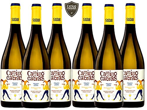 CAMINO DE CABRAS Caja de vino - Ribeiro - vino blanco – D.O. Ribeiro – Producto Gourmet - Vino para regalar - Vino Premium - 6 botellas x 750 ml.