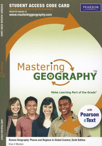 Price comparison product image Human Geography: Mastering Geography Student Access Card: Places and Regions in Global Context (Mastering Geography (Access Codes))