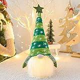 Anself Adornos navideños Muñeca con luz LED Muñeco de peluche Fiesta Decoración Adornos navideños de vacaciones Decoración de mesa