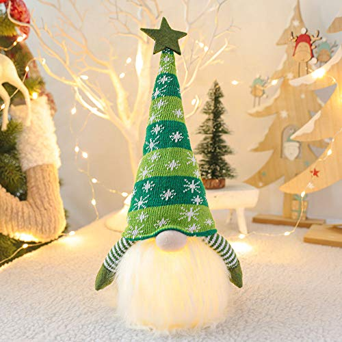 Bucharm Christmas Decorations Indoor Glowing Handmade Plush Gnomes Christmas Gnome for The Home Decor Christmas Ornaments