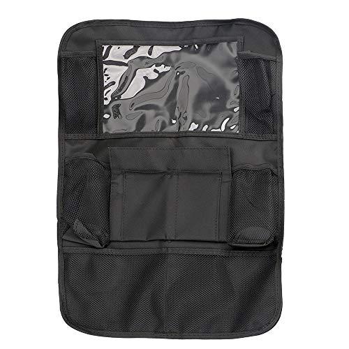 Organizador de asiento de automóvil bolsa de almacenamiento trasero colgando de espalda Multi Bolsillo Gran capacidad para iPad Teléfono móvil Auto Accesorios universales ( Color Name : Black )