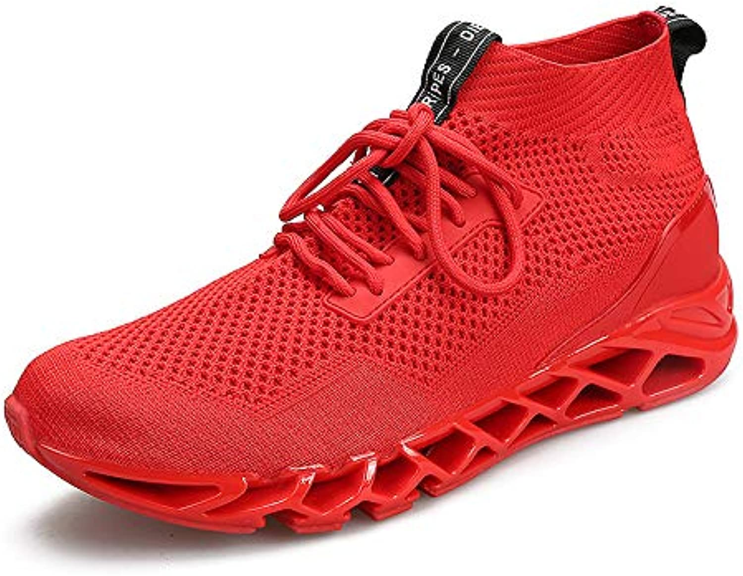 LOVDRAM Men'S shoes Men'S Sports shoes Shock Absorption Wear Outdoor Large Size High To Help Running shoes