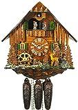 Allemand Horloge coucou (de la Forêt Noire) avec mouvemente 8 jour - style Chalet - 34 cm - Coucou de la forêt noire authentique - de August Schwer