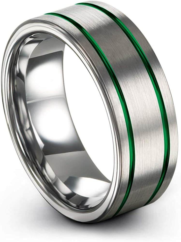 Chroma Color Collection Tungsten Carbide Wedding f Finally popular brand In a popularity 8mm Band Ring