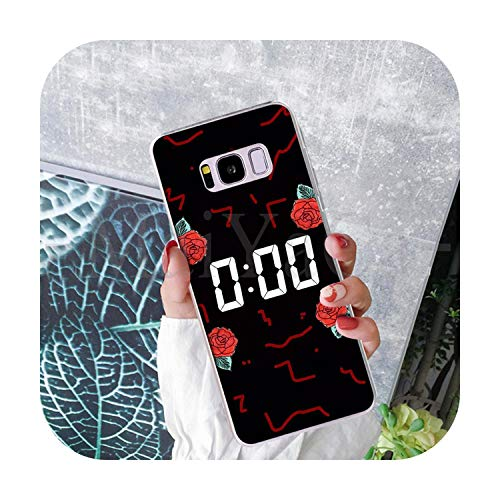Phonecase Flower And Time Clock Art Funny Cartoon Phone Case Fashion For Samsung S9 S9 Plus S5 S6S6Edge S6Plus S7 S7Edge S8 S8Plus-1-For Galaxy S7