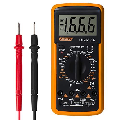 Yunnyp Aneng Dt9205al Digital Multimeter Dt-9205A Handheld Digital Multimeter AC/Dc Volt Ampere Ohm Kapazität Hz Tester