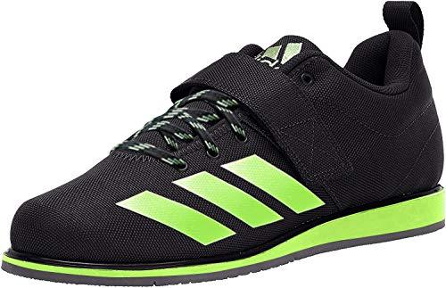 adidas Powerlift 4, Zapatillas de Baloncesto para Hombre, Negro (Negro, Verde y Gris), 42 2/3 EU