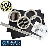 olimpia splendid unico 8.5 scheda tecnica  Coppia di griglie Ø 200 mm pieghevoli - Kit installazione UNICO Olimpia Splendid