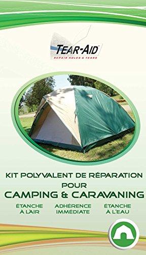 TEAR-AID Kit Polyvalent de réparation instantanée et sans Colle pour tentes, Sacs de Couchage, Matelas, bâches, Toiles et Autres matériels de Camping et caravaning