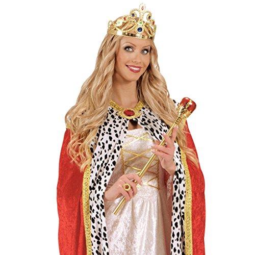NET TOYS Sceptre de Roi Deluxe Sceptre Roi Mardi Gras régents régent déguisement Accessoire Carnaval Reine Prince Princesse