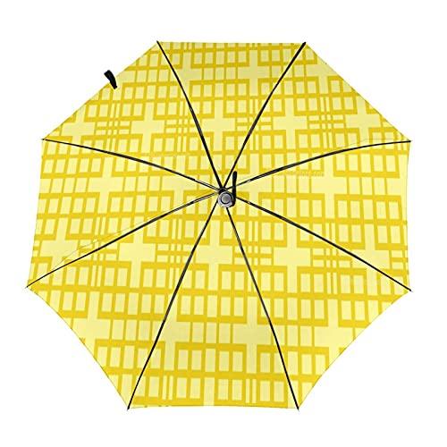 Diseño automático ligero compacto portátil del paraguas del viaje cuadrado amarillo del modelo y alta resistencia del viento