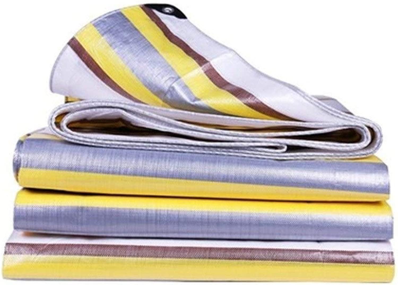 GUOYANHOME タープ ポリエチレン製防水シート、耐引裂性のシンプルなターポリン、ボートオートバイトラック多機能カーゴカバー、カラーストリップ、複数サイズ (Size : 9.7X9.7m)