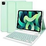 Custodia Tastiera per iPad Air 4 (2020, 10,9) - Custodia con Tastiera per iPad 10,9 2020/iPad Pro 11 2020/2018, Smart Cover Sottile con Tastiera Bluetooth Rimovibile(Verde)