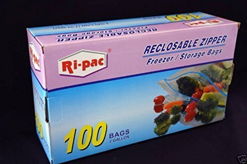 Best Price! 100 pieces 2 Gallon Size 13x16 Zip Lock Reclosable Freezer Storage Bags Zipper