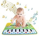 Zerodis Baby Piano Mat,Farm Theme Music Dance Play Mat Funny Animal Sounds Keyboard Blanket Children Crawling Carpet Educational Musical Toy Kids Gift