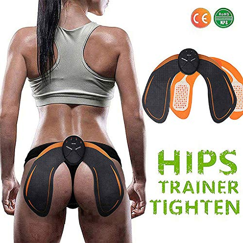 Ben Belle ABS Stimulator Hip Trainer,EMS Electrical Hips Trainer 6 Modes Smart Fitness Training Gear Home Office Ab Workout Equipment Machine