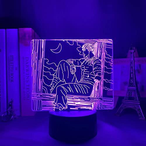 Anime llevó la luz de la noche berserk tripas para dormitorio Deco regalo colorido Nightlight manga 3D lámpara berserk tripas