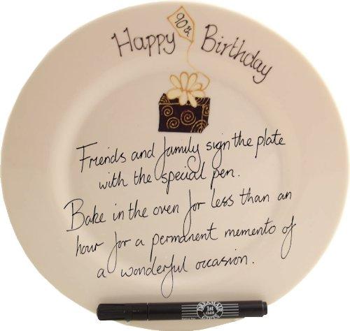 Dreamair 90th Birthday Gift: Signature Plate Box (Round)