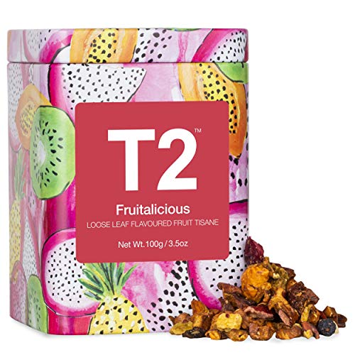 T2 Tea Fruitalicious Loose Leaf Fruit Tea in Icon Tin, 100g