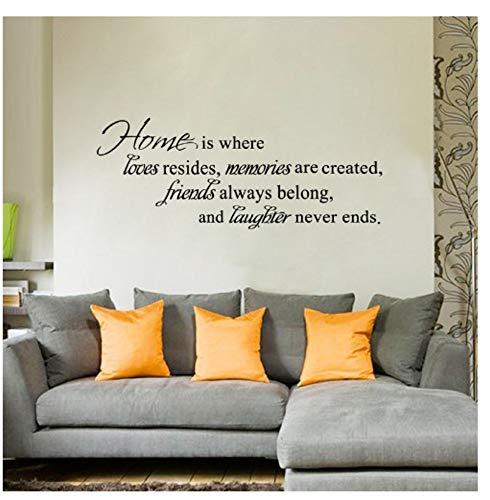 La casa è dove gli amici amano ridono spesso Cita vinyl art wall stickers home decor
