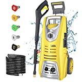 Pressure Washer Electric Power Washer, 3046 PSI 1.85 GPM Oasser Car Washer Machine with Spray Gun 5 Nozzles for Cars, Houses, Driveways, Patios(yellow)