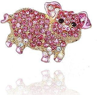 Qifumaer Broche Fleurs Vintage Mode Broche Femme Bijoux /Él/égant Broche et Pins Accessoires de D/écoration pour v/êtements /écharpe Vestes Sac /à Dos Size 5.5 Cyan 2.5cm