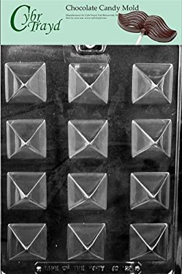 Cybrtrayd Life of the Party AO129 Small Pyramid Chocolate Candy Mold in Sealed Protective Poly Bag Imprinted with Copyrighted Cybrtrayd Molding Instructions