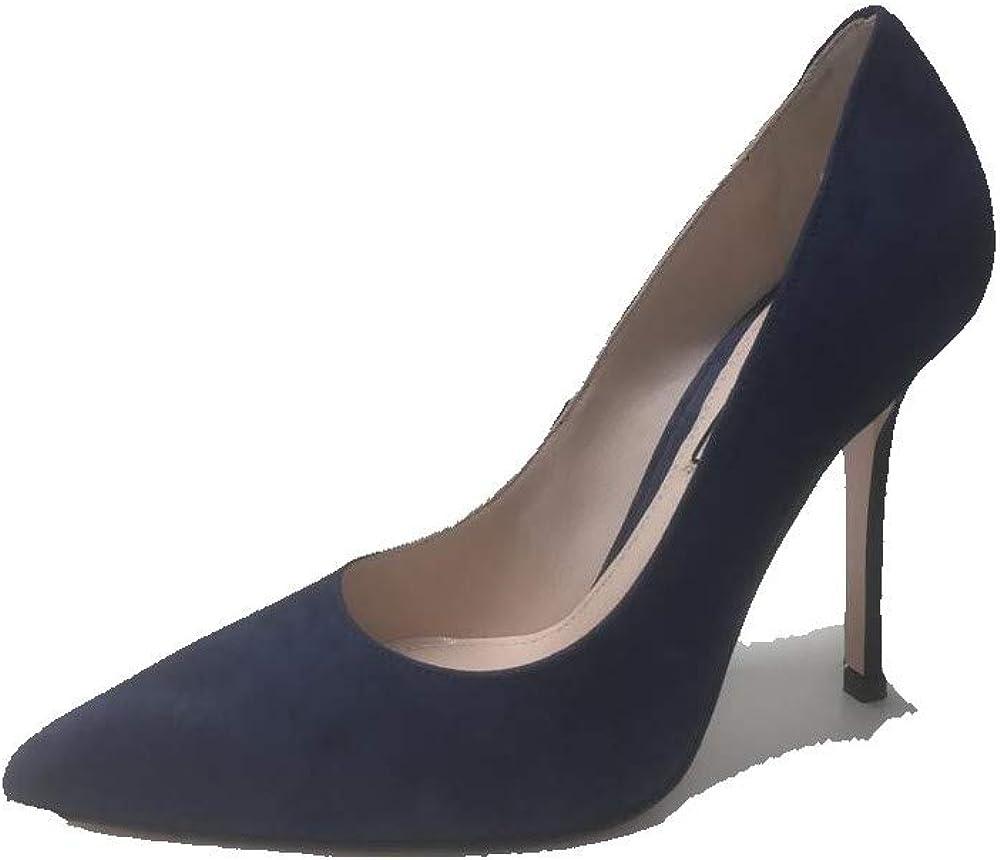 Liu jo jeans,décolléte marilyn ,scarpe con tacco a spillo per donne,in camoscio blu SXX523P00210000940