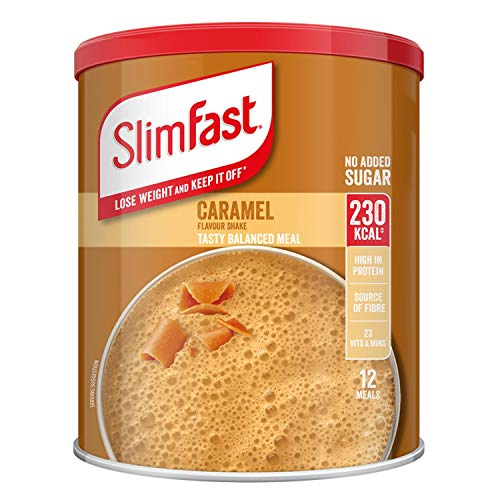 Slimfast Caramel 292g, Meal Shake Caramel Flavour, Can Help You Lose Weight and Keep it Off, Source of Fibre, You can Shake-up in Seconds, Pack of 2