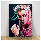 DNJKSA Edgy Justin Bieber Poster Print Music Singer Rap Poster Wall Art Painting Home Decor Canvas painting-50x75cm No Frame