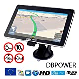Navigateur 7 Pouces DBPOWER-772 GPS Navigation Europe 2020 pour Poids Lourds Camion et Voiture Truck Cartographie a Vie