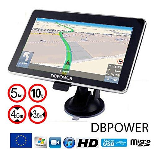 DBPOWER Navigationsgerät 7 Zoll LKW PKW Wohnmobil 8GB/256M TMC Stauumfahrung, Verkehrsmeldungen in Echtzeit GPS Navigation Navi 2020