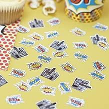 Ginger Ray Table Party Confetti - Pop Art Superhero Birthday Decorations