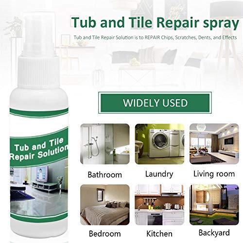 Reparatiespray voor badkuipen en tegels – repareer chips, krassen, deuken en defecten, perfect voor het bevestigen van tegels, wastafels en badkuipen